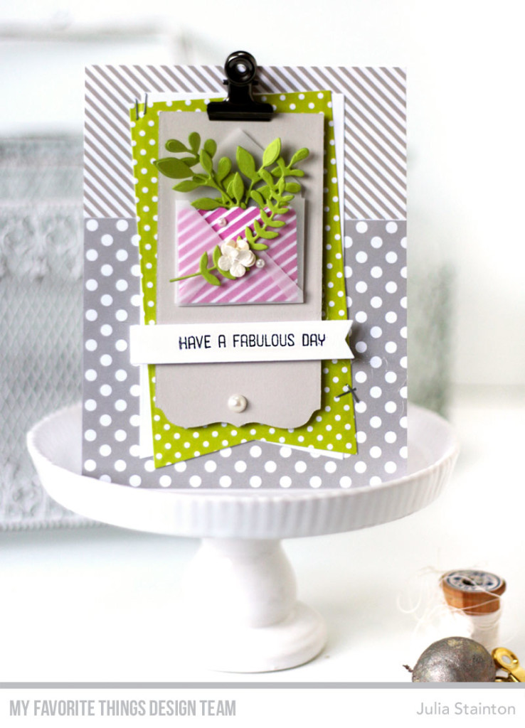 Fabulous Day Envelope Card by Julia Stainton featurng MFT Stamps