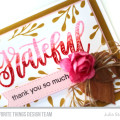 Grateful Thank You Card by Julia Stainton featuring MFT Stamps