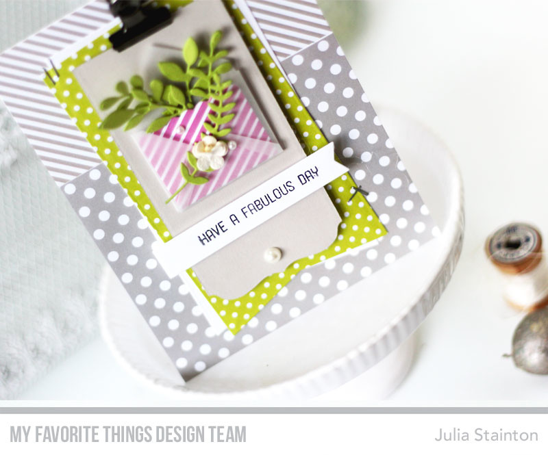 Fabulous Day Envelope Card by Julia Stainton featuring MFT Stamps