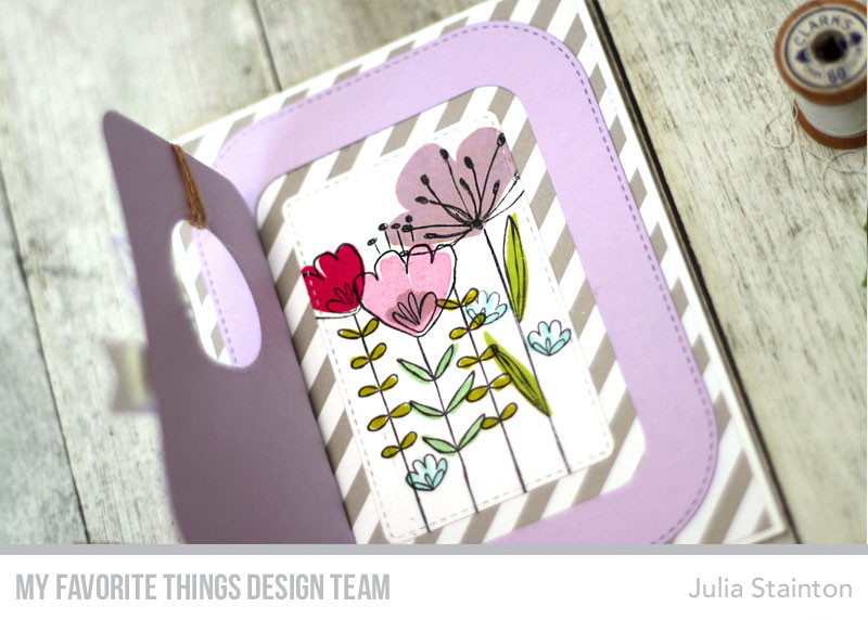 Totally Grateful Peekaboo Window Card by Julia Stainton featuring MFT Stamps Blueprints Die-namics