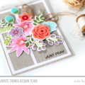 Just Pray Floral Stamped Card by Julia Stainton featuring In Bloom from MFT Stamps