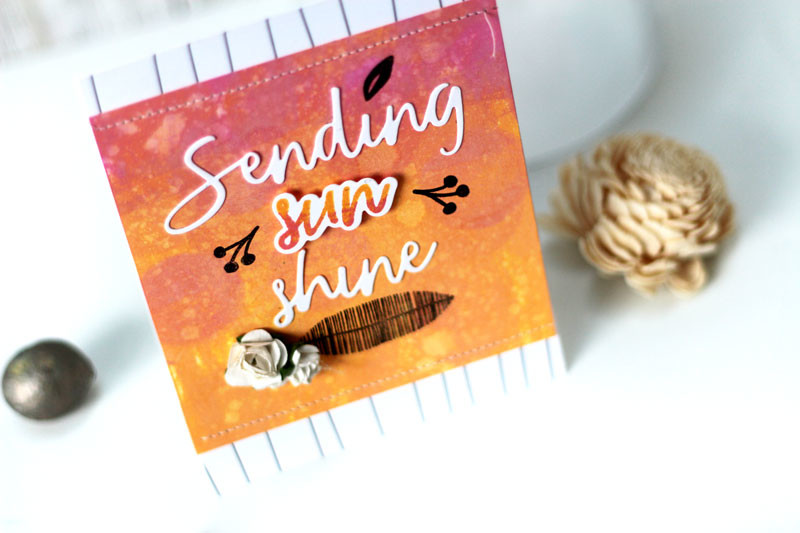 Sending Sunshine Stamped Card by Julia Stainton featuring Distress Oxide Inks and Essentials by Ellen