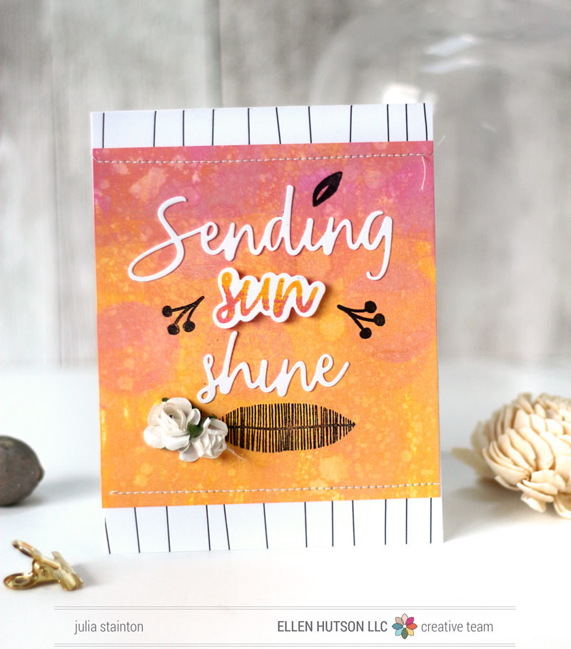 Sending Sunshine Card by Julia Stainton featuring Distress Oxide Inks and Essentials by Ellen