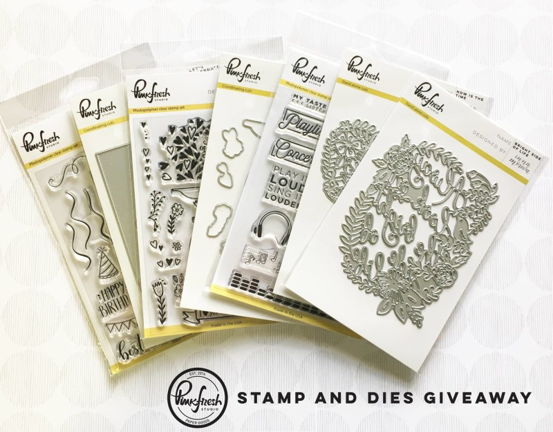 stamps and die giveaway