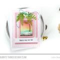 Tickled Pink Stamped Sunset Shaker Card by Julia Stainton featuring MFT Stamps