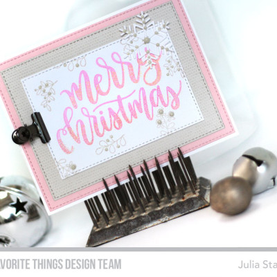 Soft and Subtle Christmas: MFT October Release Countdown