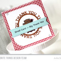 Small Card Big Thanks Stamped Card by Julia Stainton featuring MFT Stamps