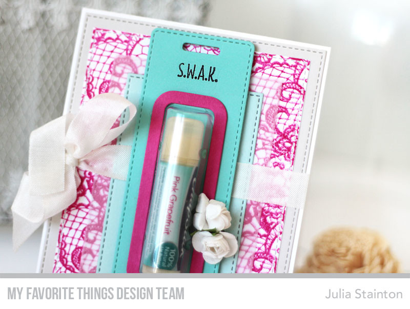 You're the Balm Lip Balm Card by Julia Stainton featuring MFT Stamps