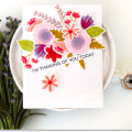 Rustic Wildflowers Thinking of You Card by Julia Stainton featuring MFT Stamps
