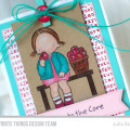 Love You To the Core Apple Card by Julia Stainton featuring MFT STamps Pure Innocence and colored pencil coloring
