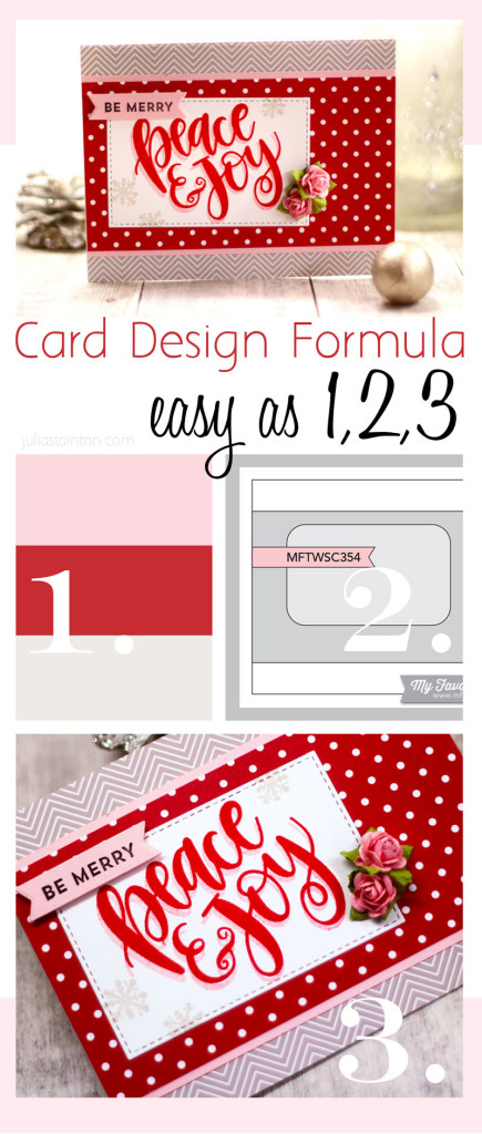 Easy Card Design Formula 1, 2, 3 by Julia Stainton