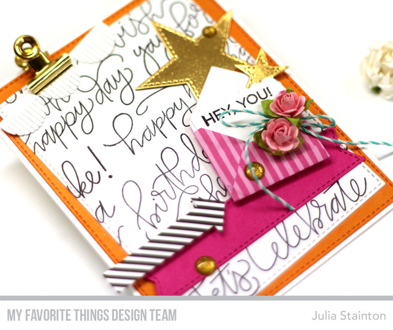 Birthday Envelope Card by Julia Stainton featuring MFT Stamps