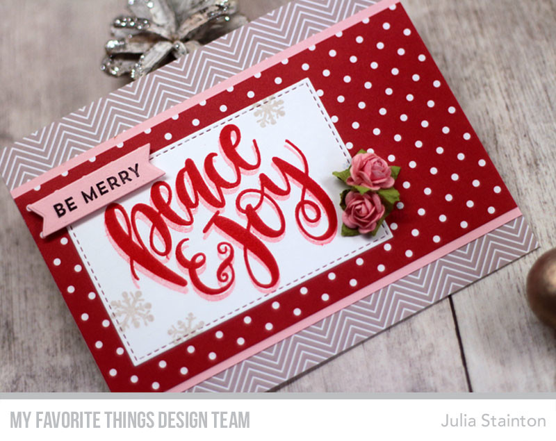 Easy Christmas Card Formula by Julia Stainton featuring MFT Stamps