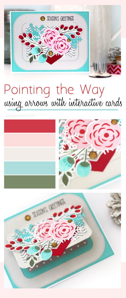 Directional Design...using arrows to highlight interactive card designs by Julia Stainton