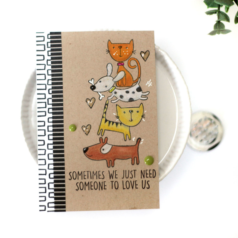 Someone to Love Dog and Cat card by Julia Stainton