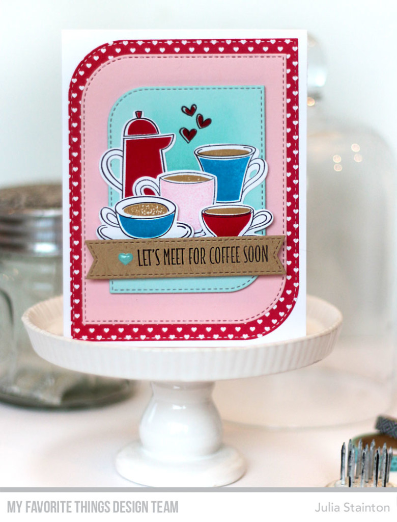 Coffee Break Date Card by Julia Stainton featuring MFT Stamps
