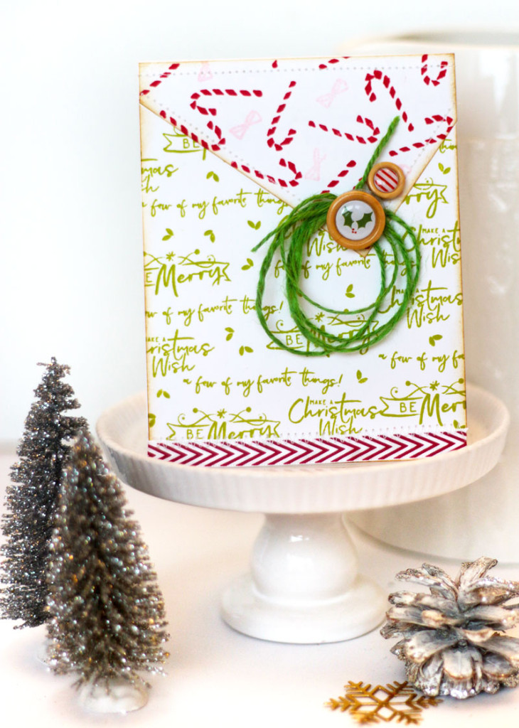 Christmas Wish Stamped Christmas Card by Julia Stainton featuring Pinkfresh Studio