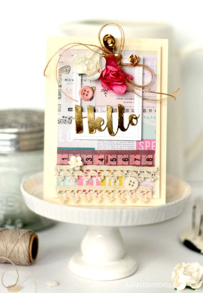 Inspired By Challenge Hello Card by Julia Stainton